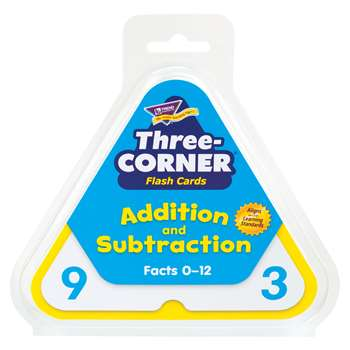 Three-Corner Flash Cards 48/Pk Addition & Subtraction By Trend Enterprises