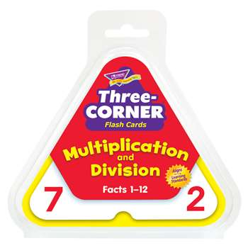 Three-Corner Flash Cards 48/Pk Multiplication & Division By Trend Enterprises