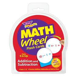 Math Wheel Flash Cards 12/Pk Addition & Subtraction By Trend Enterprises