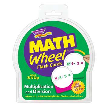 Math Wheel Flash Cards 12/Pk Multiplication & Division By Trend Enterprises