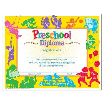Classic Diploma Preschool 30/Pk 8-1/2 X 11 By Trend Enterprises