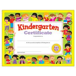 Kindergarten Certificate By Trend Enterprises