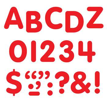 Stick-Eze 1 Letters Numbers Red 126 Punctuation Marks By Trend Enterprises