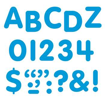 Stick-Eze 1 Letters Numbers Blue 126 Punctuation Marks By Trend Enterprises
