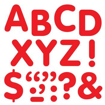 "Stick-Eze 2"" Letters & Marks Red By Trend Enterprises"