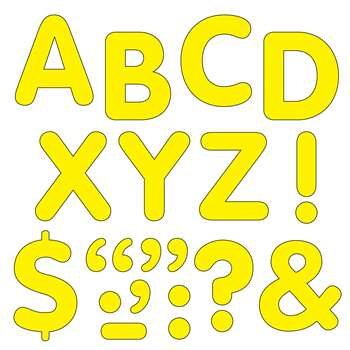 "Stick-Eze 2"" Letters & Marks Ylw By Trend Enterprises"