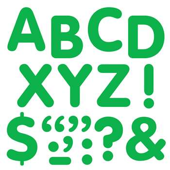 Stick-Eze 2In Letters & Marks Green By Trend Enterprises