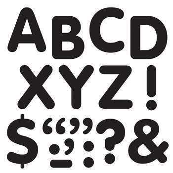 Stick-Eze 2In Letters & Marks Black By Trend Enterprises