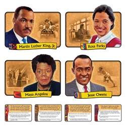 Bb Set African-American Achievers 12 Realistic Portraits By Trend Enterprises