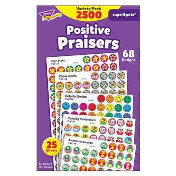 Superspots Stickers Positive 2500Pk Praise By Trend Enterprises