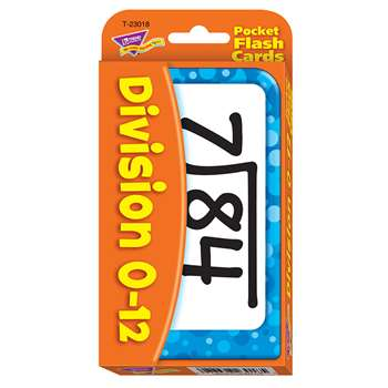 Pocket Flash Cards Division 56-Pk 3 X 5 Two-Sided Cards By Trend Enterprises