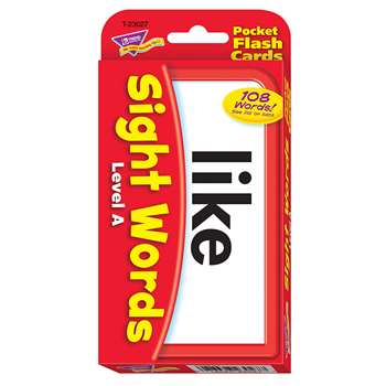 Pocket Flash Cards Sight Words A By Trend Enterprises