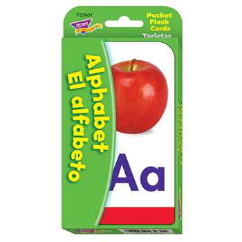 Pocket Flash Cards Alphabet El Alfabeto By Trend Enterprises