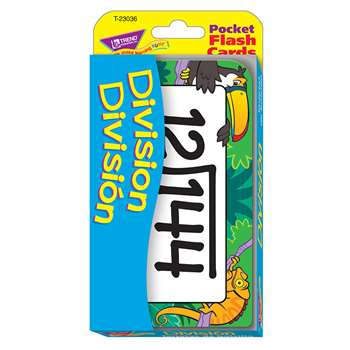 Pocket Flash Cards Division Bilingual By Trend Enterprises