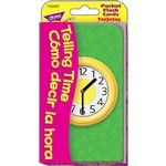 Pocket Flash Cards Telling Time Como Decir La Hora By Trend Enterprises