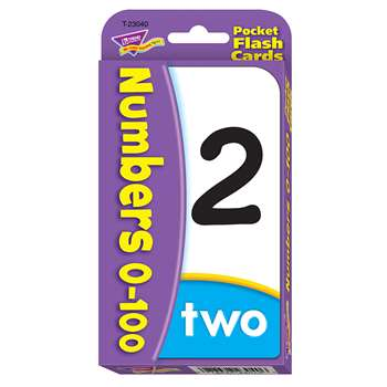 Numbers 0-100 Pocket Flash Cards By Trend Enterprises