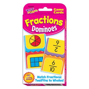 Challenge Cards Fractions Domino By Trend Enterprises