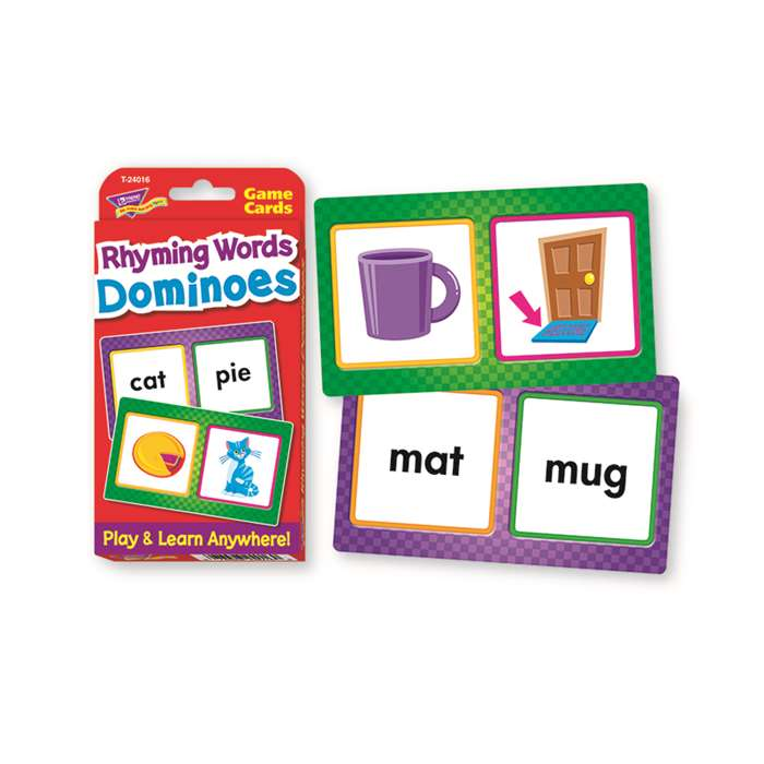 Challenge Cards Rhyming Words Domin By Trend Enterprises