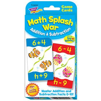 Math Splash War Addition & Subtraction Challenge C, T-24022