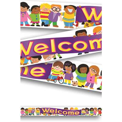 Banner Welcome Trend Kids 10Ft Horizontal By Trend Enterprises