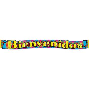 Banner Bienvenidos Spanish Welcome 10Ft Horizontal By Trend Enterprises