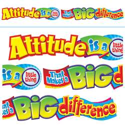 Attitude Is A Little Thing 10Ft Horizontal Banner By Trend Enterprises