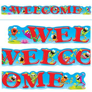 Welcome Frogs 10Ft Horizontal Banner By Trend Enterprises