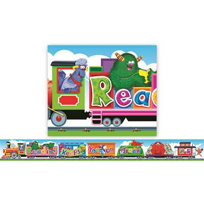 Furry Friends Reading Train Banner By Trend Enterprises