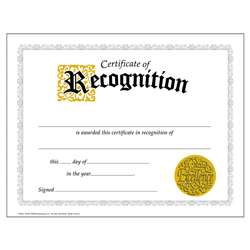 Certificate Of Recognition 30/Pk Classic 8-1/2 X 11 By Trend Enterprises