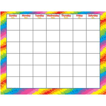 Tie-Dye C&M Wipe-Off Charts & Maps By Trend Enterprises