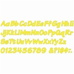 Ready Letters 4 Inch Italic Yellow By Trend Enterprises