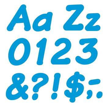 Ready Letters 4 Inch Italic Blue By Trend Enterprises