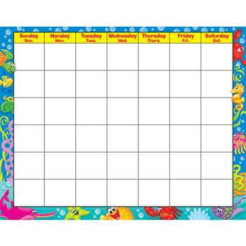 Sea Buddies Wipe Off Calendar Monthly, T-27021