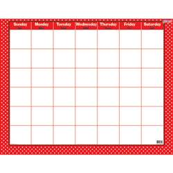 Polka Dots Red Wipe Off Calendar Monthly, T-27024