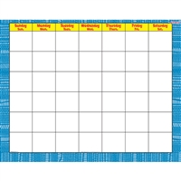 Reptile Blue Wipe Off Calendar Monthly, T-27027
