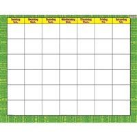 Reptile Green Wipe Off Calendar Monthly, T-27028