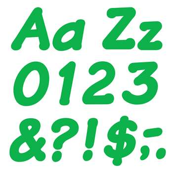 Ready Letters 4 Inch Italic Green By Trend Enterprises