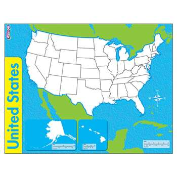 The United States Wipe Off Map 17X22 By Trend Enterprises