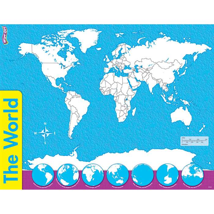 The World Wipe Off Map 17X22 By Trend Enterprises