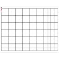 Graphing Grid Small Squares Wipe Off Chart 17X22 By Trend Enterprises