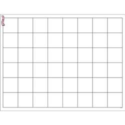 Graphing Grid Large Squares Wipe Off Chart 17X22 By Trend Enterprises