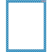 Moroccan Blue Wipe Off Chart, T-27322
