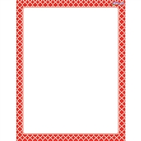 Moroccan Red Wipe Off Chart, T-27323