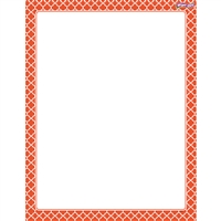Moroccan Orange Wipe Off Chart, T-27325