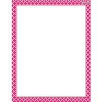 Moroccan Pink Wipe Off Chart, T-27326