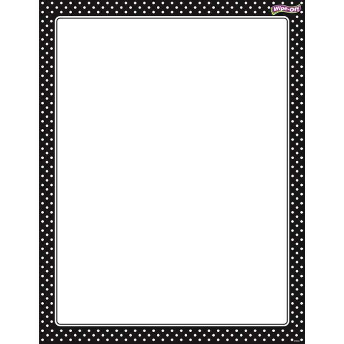 Polka Dots Black Wipe Off Chart, T-27331