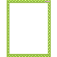 Polka Dots Lime Wipe Off Chart, T-27333