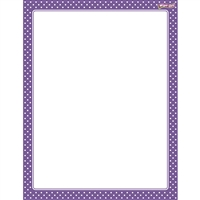 Polka Dots Purple Wipe Off Chart, T-27334