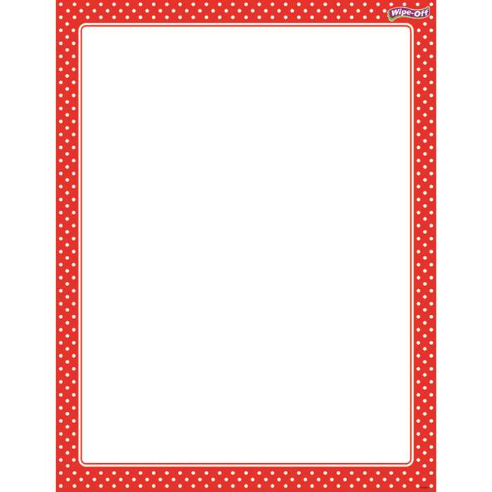 Polka Dots Red Wipe Off Chart, T-27335