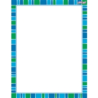 Stripe-Tacular Cool Blue Wipe Off Chart, T-27341